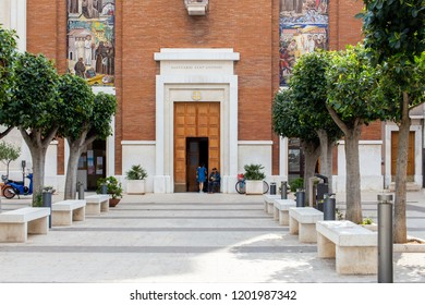 Bari, Italy - 04 29 2018: Church of Saint Anthony in the city of Bari, in the south of Italy.