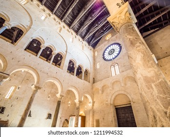 Bari, Italy - Jul 8, 2018: Bari Cathedral (Italian: Duomo di Bari or Cattedrale di San Sabino) is the cathedral of Bari, in Apulia, southern Italy.