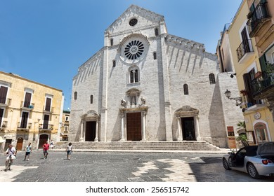 BARI, ITALY, June 21, 2014: Bari Cathedral of Saint Sabinus. It is dedicated to Saint Sabinus, a bishop of Canosa, whose relics were brought here in the 9th century.