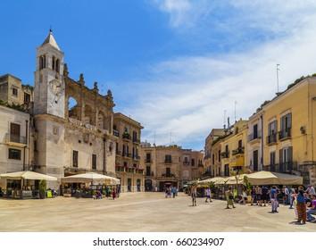 Bari, Italy - June 5, 2017: Piazza Mercantile, Bari, Apulia, Italy