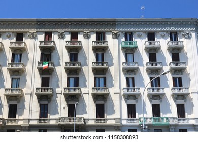Bari, Italy - typical Italian residential architecture. Apartment building.