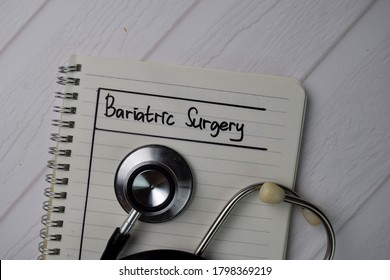 Bariatric Surgery write on a book isolated on office desk.
