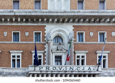 Bari/Italy - 04 21 2018: Historic building in the city of Bari, in southern Italy, the seat of political life.
