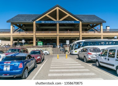 Bariloche, Argentina, 20th March 2019 - Exterior of the Bariloche airport in the famous Patagonia region of Argentina
