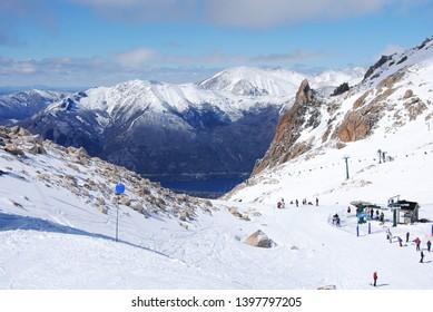 Bariloche Argentina Lansdcape Mountains Snow Ski