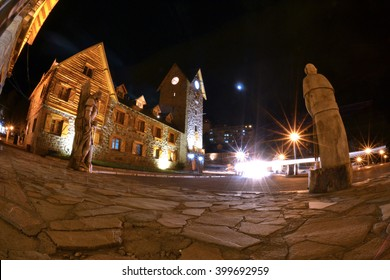 Bariloche Argentina Streets At Night, South America