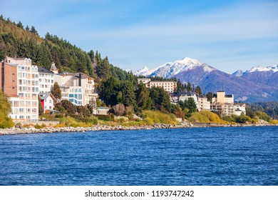 Bariloche city and Nahuel Huapi Lake in Patagonia region of Argentina