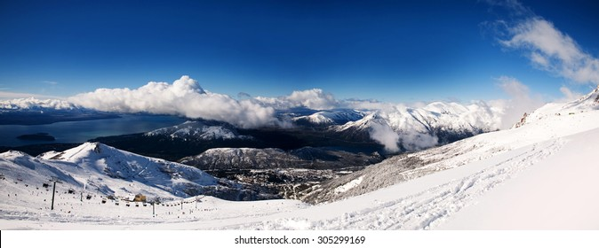 Bariloche view from the mountains, Patagonia Argentina