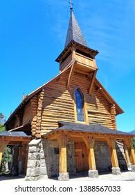 Bariloche/Argentina - February 9, 2017: one of the beautiful churches of Bariloche, Argentina.