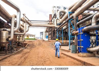 Bariri, Sao Paulo, Brazil. October 09, 2008. Sugar and Ethanol Manufacturing Plant in Brazil