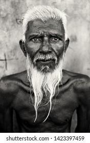 BARISAL - BANGLADESH - NOVEMBER 22, 2016: Unidentified old Muslim man with pointed beard on November 22, 2016 in Barisal, Bangladesh