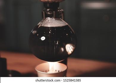 barista brewing coffee in the coffee room