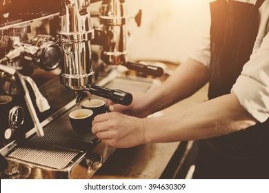 Barista Coffee Maker Machine Grinder Portafilter Concept