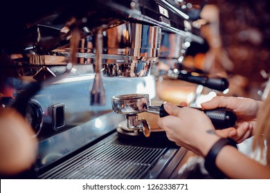 Barista coffee maker professional brewing espresso machine grinder.