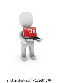 barium symbol on screen laptop