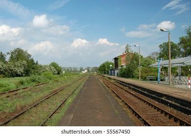 Barleben railway station, Saxony-Anhalt, Germany