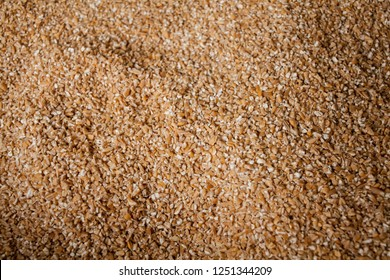 barley groats. Barley grits for background and texture. Barley cereal. Top view. Background of the surface formed by layer of fine-ground barley groat
