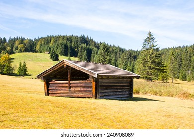 Barn in the Karwendel mountains of Bavaria (Germany)