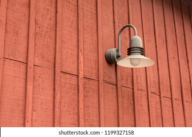 Barn light on awarehouse wall