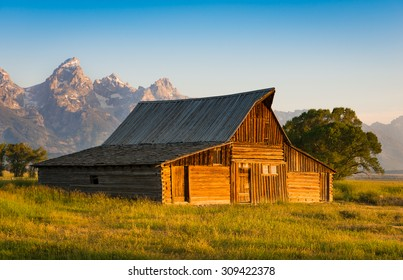 Barn on Mormon Row Jackson Hole Wyoming