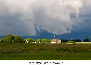 Barn In Storm