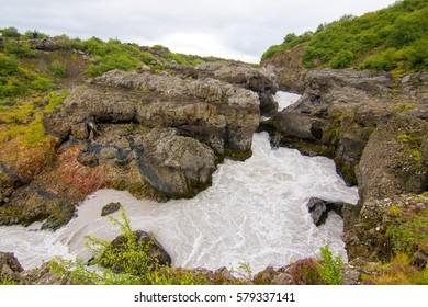 Barnafoss waterfall, Iceland
