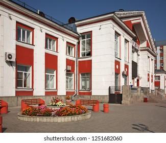 BARNAUL. ALTAI KRAI. RUSSIA. 24 SEPTEMBER 2016 : Railway station in Barnaul. Altai Krai. Western Siberia. Russia