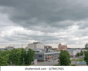 BARNAUL ALTAI KRAI. RUSSIA. 25 SEPTEMBER 2018 : Altai Drama Theater in Barnaul. Altai Krai. Western Siberia. Russia