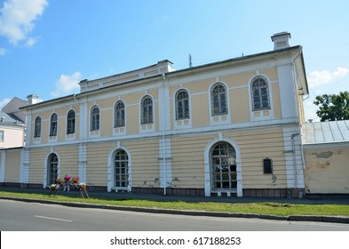 Barnaul, Russia, August, 17, 2016. Barnaul, a monument of architecture of 19 century - the Barnaul tool shop in the summer. The architects are Molchanov A. I. and Popov Ya.N.