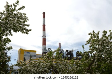 BARNAUL, RUSSIA JUNE 2, 2018: Thermal Power Plant in Barnaul in the south of Western Siberia