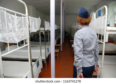 Barnaul,Russia-July 8, 2010.A women's penal colony No. 6