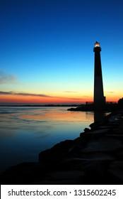 Barnegat Lighthouse at dawn