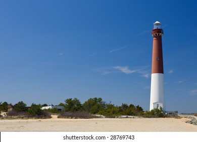 The Barnegat Lighthouse, as seen from the shore