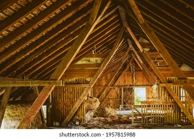 Barns attic under the roof