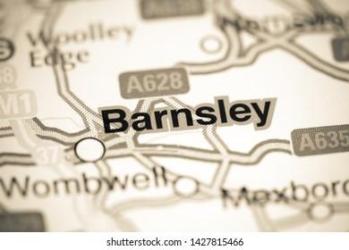Barnsley. United Kingdom on a map