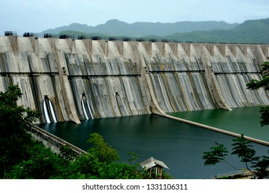 Baroda; (Vadodara)  Gujrat; India - July 25; 2012 : Sardar Sarovar Dam, It is large irrigation and hydroelectric multi-purpose dams on the Narmada river, Gujarat, India,