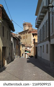Barolo, Cuneo, Italy - 04/10/2011: The municipality of Barolo in the Piemonte wine region of northern Italy.