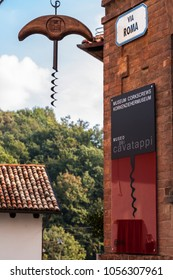 Barolo, Italy - October 21, 2006: The Corkscrew Museum. Barolo is the capital of the Langhe (Unesco World Heritage Site), where Barolo wine is produced.