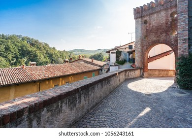 Barolo, Italy - September 27, 2009: Castle of Barolo, home of the Regional Wine Shop and Wine Museum. Barolo is the capital of Langhe (Unesco World Heritage Site), where Barolo wine is produced.