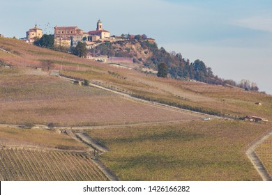 Barolo town and vineyards, Langhe, Piedmont, Italy