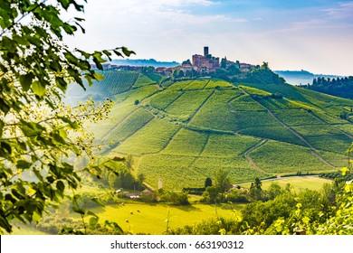 Barolo wine region, Langhe, Piedemont, Italy. Serralunga d'Alba