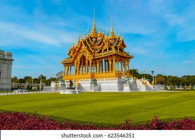 Barom Mangalanusarani Pavilion (The Grand Royal Commemorative Pavilion) in the area of Ananta Samakhom Throne Hall in Royal Dusit Palace in Bangkok, Thailand