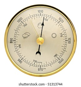 Barometer on a white background