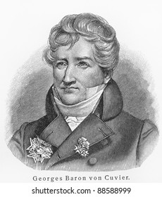 Baron Georges Cuvier - Picture from Meyers Lexicon books written in German language. Collection of 21 volumes published between 1905 and 1909.