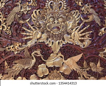 Barong detailed engraved artwork in gold