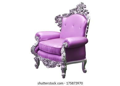 Baroque armchair with pink worker strikes