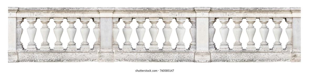 Barockbalustrade (einzeln auf weißem Hintergrund)