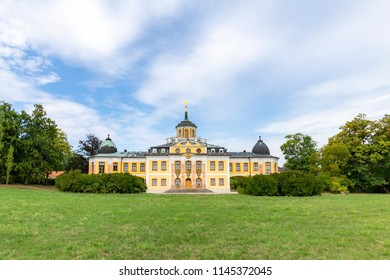 The Baroque Belvedere castle built for house-parties in Weimar, Thuringia