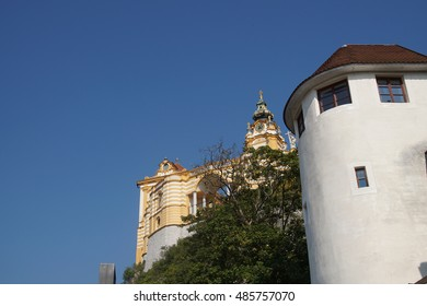 Baroque Benedictine monastery, on a hill above  Melk, Austria