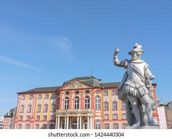 Baroque castle in Bruchsal, near Karlsruhe/Germany.03.26.2017